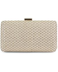 Jessica Mcclintock - Noelle Satin Woven Frame Convertible Clutch - Lyst