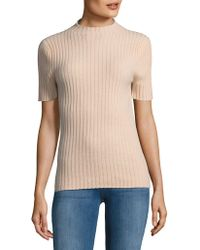 Lord & Taylor - High Neck Cashmere Sweater - Lyst
