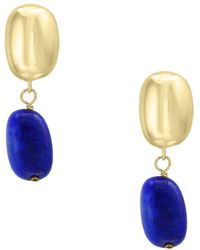 Effy - Lapis And 14k Yellow Gold Earrings - Lyst