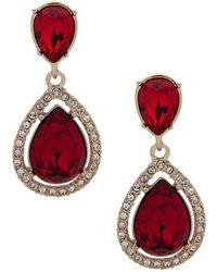 Givenchy - Crystal & Red Crystal Post Drop Earrings - Lyst
