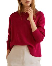 Mango - Ribbed Vented Jumper - Lyst