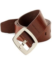 Calvin Klein - Polished Buckle Leather Belt - Lyst