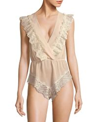 Rya Collection - Lace-trimmed French Maid Teddy - Lyst