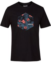 Hurley - Watercolor Graphic Cotton Tee - Lyst
