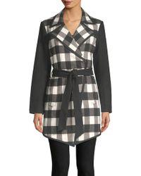 Isaac Mizrahi New York - Plaid Belted Long Jacket - Lyst