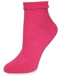 Kate Spade - Ruffled Ankle Socks - Lyst