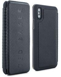 Ted Baker - Bhait Textured Iphone X Card Slot Folio Case - Lyst