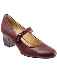 Trotters - Candace Leather Mary Jane Court Shoes - Lyst