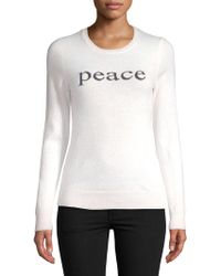 Lord & Taylor - Peace Cashmere Jumper - Lyst