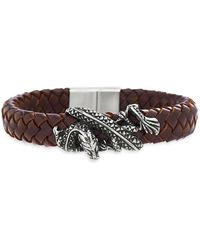 Lord + Taylor - Stainless Steel Dragon Braided Bracelet - Lyst