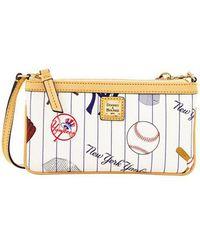 Dooney & Bourke - Yankees Coated Cotton Large Slim Wristlet - Lyst