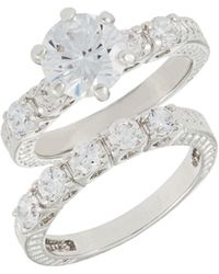 Michela - Two-piece Solitaire Ring Set - Lyst