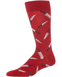 Hot Sox Chef Knives Crew Socks - Red
