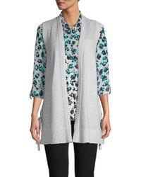 Jones New York - Textured Open-front Cotton Cardigan - Lyst