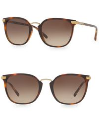 85ac593e851 Burberry 54mm Clubmaster Sunglasses in Black - Lyst