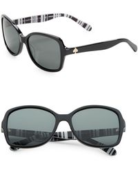 Kate Spade - Ayleen 56mm Square Sunglasses - Lyst