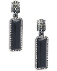 Ralph Lauren - Hematite-plated And Crystal Drop Earrings - Lyst