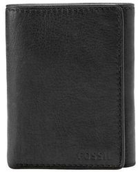 Fossil - Ingram Leather Tri-fold Wallet - Lyst
