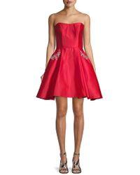 Blondie Nites - Embellished Satin Party Dress - Lyst