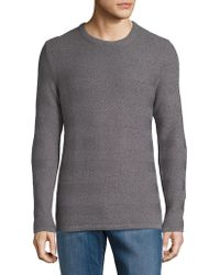 SELECTED - Cotton Striped Texture Sweater - Lyst
