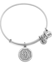 ALEX AND ANI - Initial D Charm Bangle - Lyst
