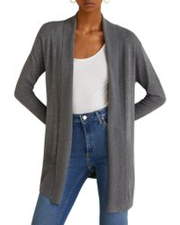 Mango - Ribbed Detail Cardigan - Lyst