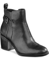 Lauren by Ralph Lauren - Genna Buckled Leather Ankle Boots - Lyst