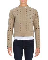 Dawn Levy - Stacy Grommet Suede Jacket - Lyst