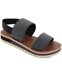 Chooka - Two-strap Flatform Sandals - Lyst