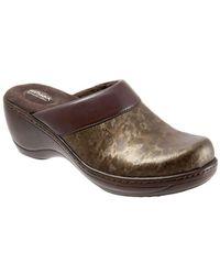 Softwalk - Murietta Marble Leather Clogs - Lyst