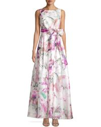 Eliza J Floral Bow Evening Gown