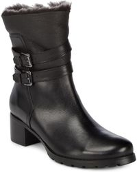 Blondo - Fabiana Leather Faux Fur Trim Boots - Lyst