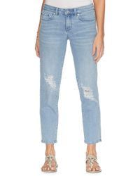 Vince Camuto - Faded Distressed Jeans - Lyst