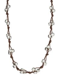 Uno De 50 - Bead And Leather Opera Necklace - Lyst