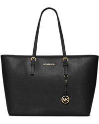 MICHAEL Michael Kors - Jetset Travel Saffiano Leather Tote Bag - Lyst