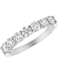 Morris & David - Diamond, 1 Tcw And 14k White Gold Ring - Lyst