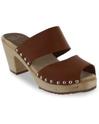 MIA - Elva Double Band Leather Mules - Lyst
