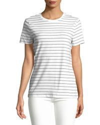 Lord & Taylor - Petite Petite Striped Cotton-blend Tee - Lyst