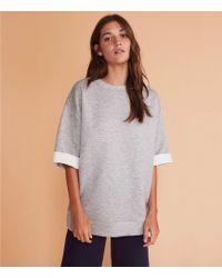 Lou & Grey - Doubleknit Sweatshirt Top - Lyst