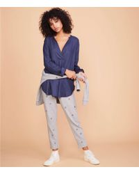 941a0373 Lyst - Lou & Grey Chambray Tunic Shirt in Blue