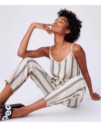 Lou & Grey - Striped Cami Jumpsuit - Lyst