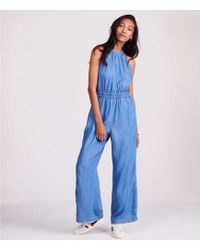 0aac3b96c0e Lou   Grey - Chambray Halter Jumpsuit - Lyst