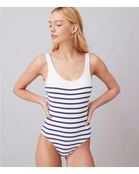 Lou & Grey - Solid & Striped Anne Marie One Piece Swimsuit - Lyst