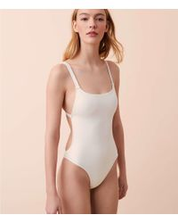 Lou & Grey - Solid & Striped Toni One Piece Swimsuit - Lyst