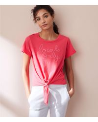 Lou & Grey - Sundry Locals Only Front Tie Tee - Lyst