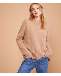 Lou & Grey - Ribtrim Cashmere Sweater - Lyst
