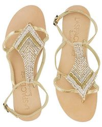58a36aac6bd746 Lyst - L Space L space By Cocobelle Nuria Sandal in Metallic