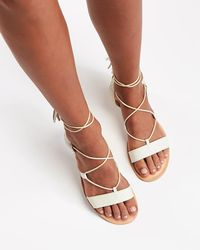 286aacdaf0e370 Lyst - L Space L  By Cocobelle Snake Wrap Sandal in Gray