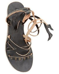 e4c171fee14389 Lyst - L Space L space By Cocobelle Snake Wrap Sandal
