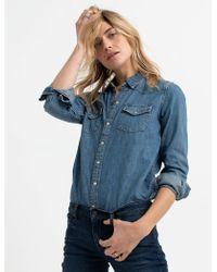 43cd7282b659 Lucky Brand Western Shirt in Blue - Lyst